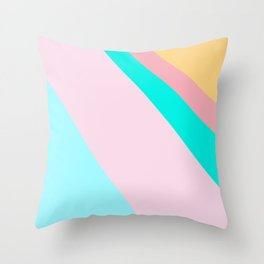 Abstract Minimal Color - Dreaming Of Maldives Islands Throw Pillow