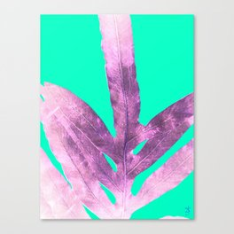 Lavender Fern on Mint Green Winter Wonderland Canvas Print