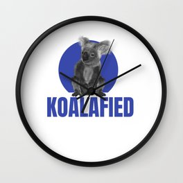 Highly Koalafied Ironworker graphic Funny design Wall Clock