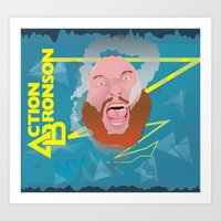 "action bronson Art Prints featuring Action Bronson ""Blue Dream"" by cocobreadconqueso"