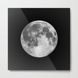 Full Moon print black-white photograph new lunar eclipse poster bedroom home wall decor Metal Print