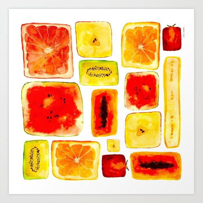 Juicy cubism Art Print