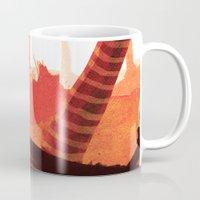forrest Mugs featuring Dawn forrest by Rafael T. Pimentel