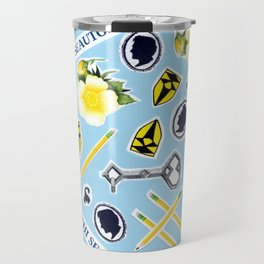 Blue ChaRActer Collage Travel Mug