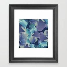 Micro Blue Framed Art Print