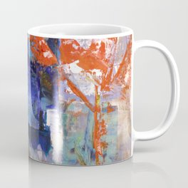 The Autumn Tree: Abstract Acrylic Painting of the Fall season Coffee Mug