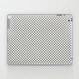 Pewter Polka Dots Laptop & iPad Skin