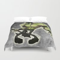 misfits Duvet Covers featuring Misfits by Roe Mesquita