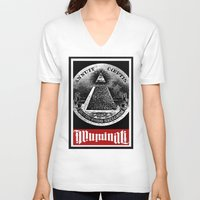 illuminati V-neck T-shirts featuring Illuminati  by Spyck