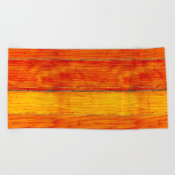 ORange wood Beach Towel