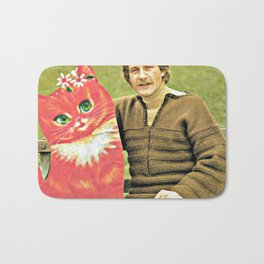 Guys Who Love Cats handcut collage Bath Mat
