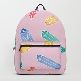 Crystals pattern - Candy pink Backpack
