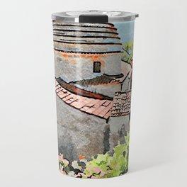 Tortora convent with flowering trees Travel Mug