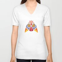 majora V-neck T-shirts featuring Majora Color by CrodriguezArt