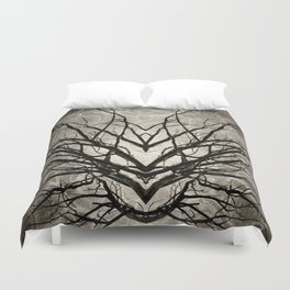 Face of Winter Witch Nature Abstract Duvet Cover
