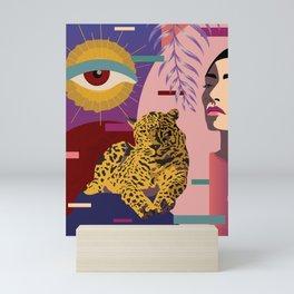 The Big Eye Leopard abstract Mini Art Print