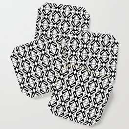 Abstract [BLACK-WHITE] Emeralds pattern Coaster