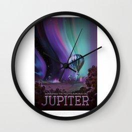 Jupiter - NASA Travel Poster Wall Clock