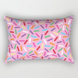 Pink Donut with Sprinkles Rectangular Pillow