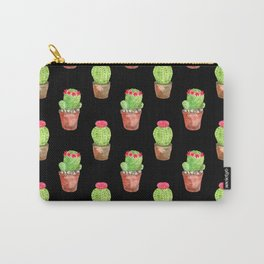 Watercolor Cactus Pattern Carry-All Pouch