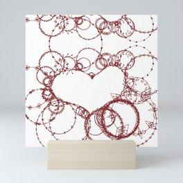 Circles make Heart Multi Design Line Art Mini Art Print