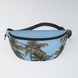 Plam Tree With A Clear Blue Sky Fanny Pack