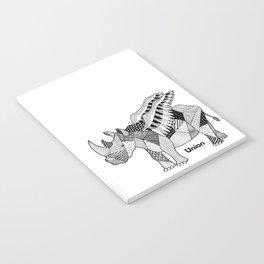 Illustrated Rhino – Union – Black Notebook