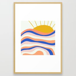 sunrise surf Framed Art Print