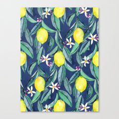 When Life Gives You Lemons - blue Canvas Print