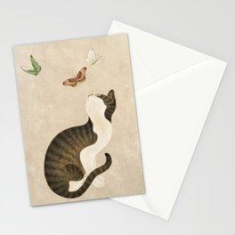 Minhwa: cat & butterflies (Korean traditional/folk art)  Stationery Cards