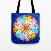 zodiac Tote Bags featuring Zodiac by Sandra Nascimento