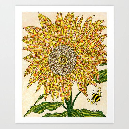 Georgia Sunflower Art Print