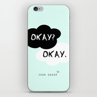 fault in our stars iPhone & iPod Skins featuring The Fault In Our Stars by Jenny W.