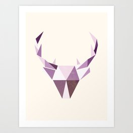 Polydeer in Space Art Print