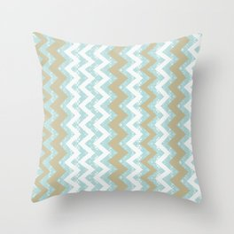 Chevrons and Dots Throw Pillow