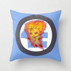 Chibi Human Torch Throw Pillow