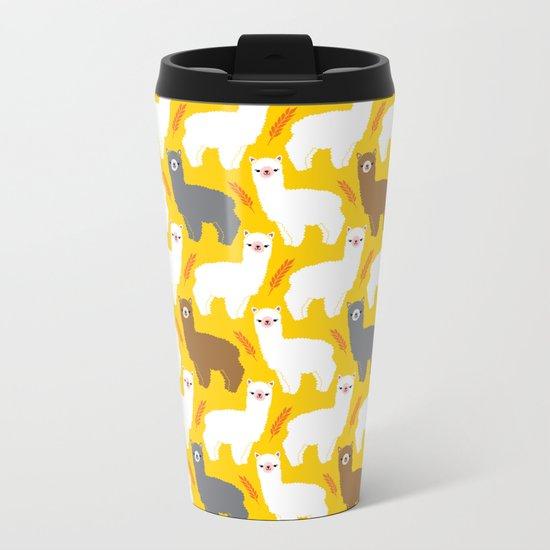 The Alpacas Metal Travel Mug