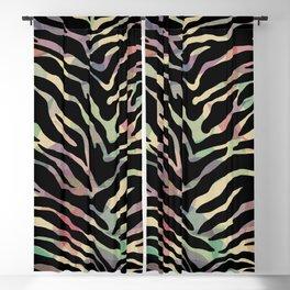 Zebra Pattern on Pastel Leaves Blackout Curtain
