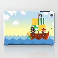 pirate ship iPad Cases featuring pirate ship by Alapapaju