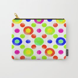 Multicolored Circles Motif Pattern Carry-All Pouch