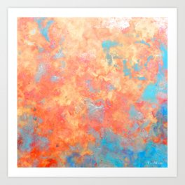 Summer Rain - Original Abstract Art by Vinn Wong Art Print