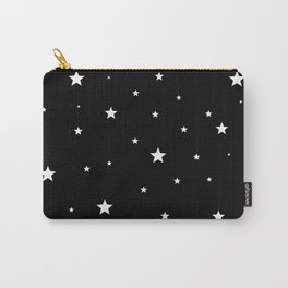 Scattered Stars - white on black Carry-All Pouch