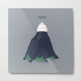 lil snow-capped mountain Metal Print