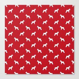 Schnauzer red dog silhouette dog pattern dog breed pet art dog lover schnauzers Canvas Print