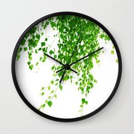 Green Leaves Delight #1 #tropical #decor #art #society6 Wall Clock