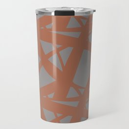 Cavern Clay SW 7701 Abstract Mosaic Pattern 3 on Slate Violet Gray SW9155 Travel Mug