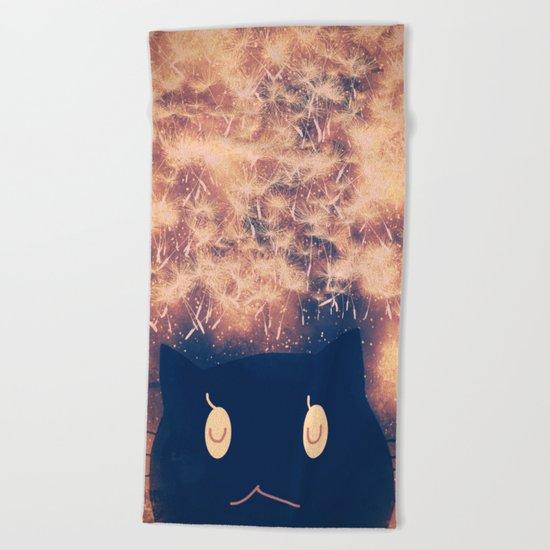 cat-164 Beach Towel