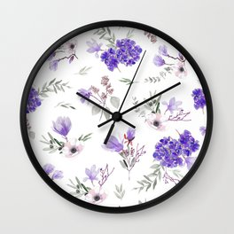 Blue pattern III Wall Clock
