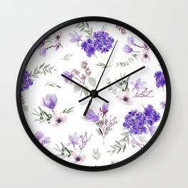 Violet pattern IIIl Wall Clock