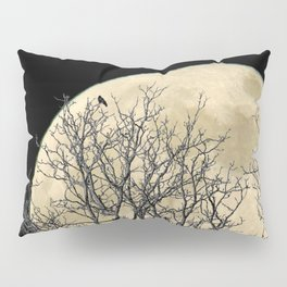 Tree with Crow Against Full Moon A181 Pillow Sham